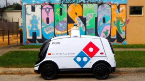 dominos self delivery robot